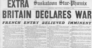 britain declares war Canada