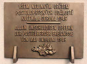 To all the innocent victims of the events in Postelberg in May and June 1945