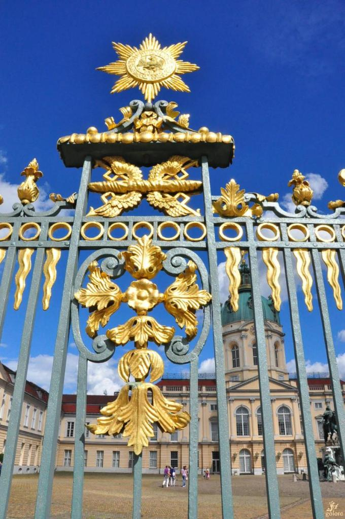 Fence of the palace showing the Order of the Black Eagle