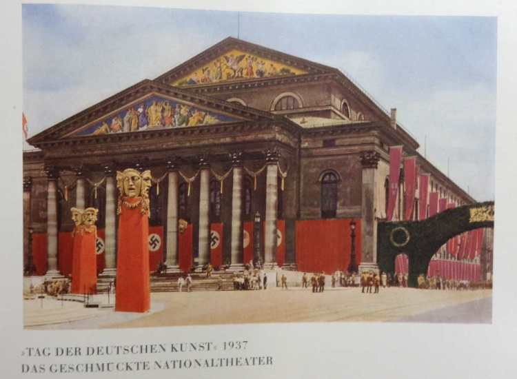 The decorations at the National Theatre in Munich