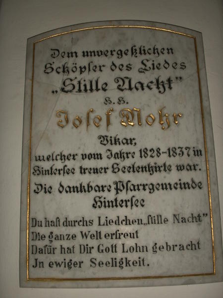 Plaque from Hintersee