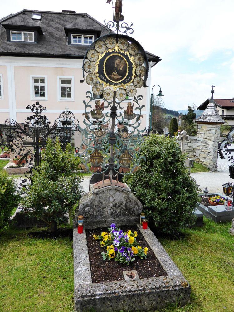 Joseph Franz Mohr's grave in Wagrain