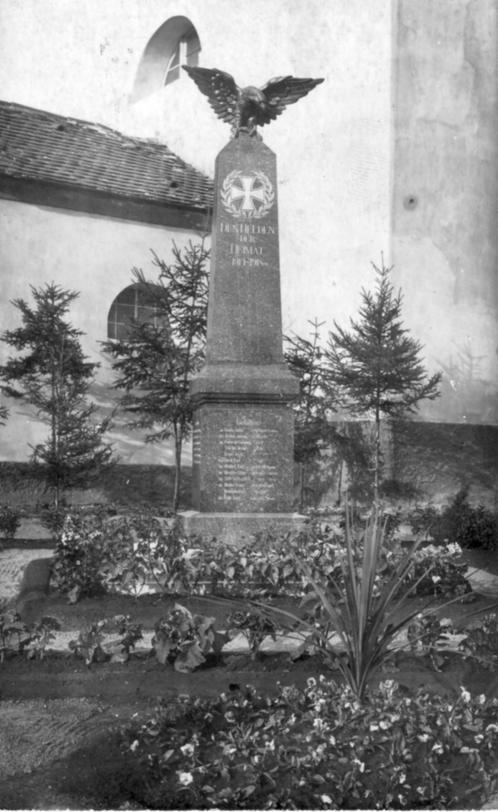 Totentafel in Trauschkowitz ( now Droužkovice)