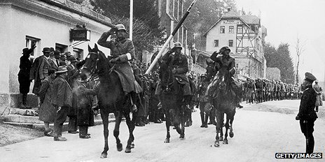 German troops arrive in Austria 12 March 1938
