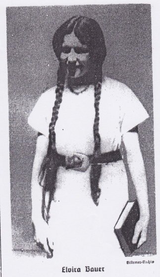 A picture of the 18-year-old Elvira Bauer from Der Stürmer.