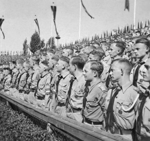 The leaders of the Hitler Youth at the 1936 Nuremberg Rally of Honour