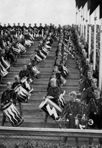 The Hitler Youth, Nuremberg Rally, Germany, 1936.
