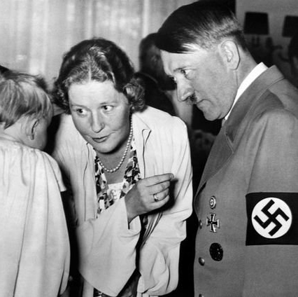 Gertrud Scholtz-Klink and Adolf Hitler