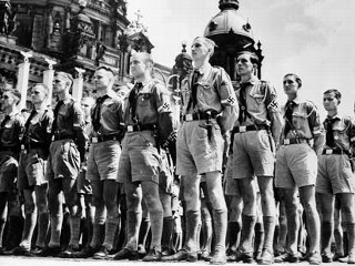 Hitler youth on parade